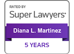 Super Lawyers - 5 Years | Diana L. Martinez